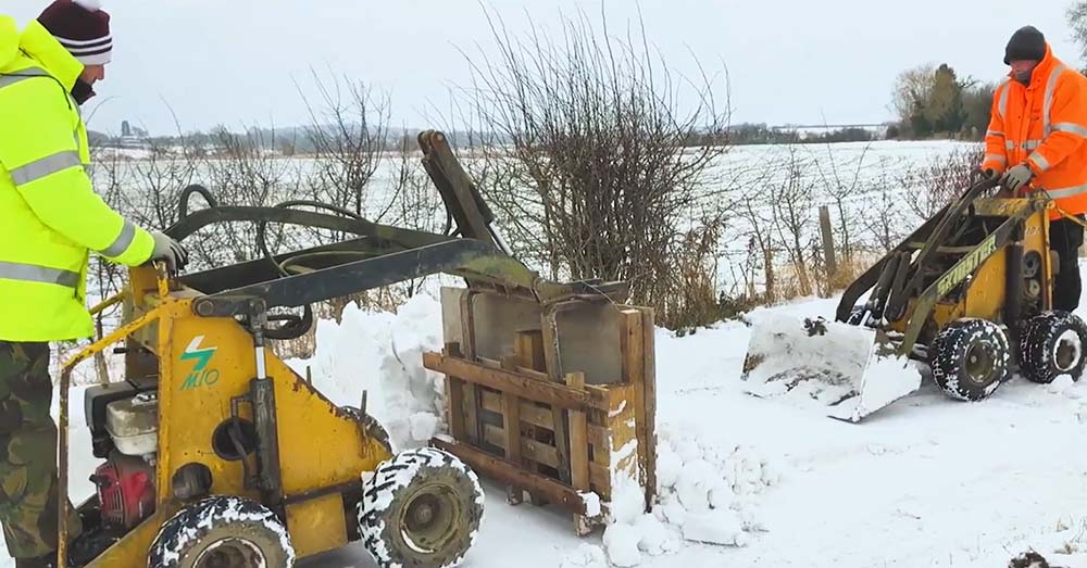 J Bradley Fencing – Clearing the Snow